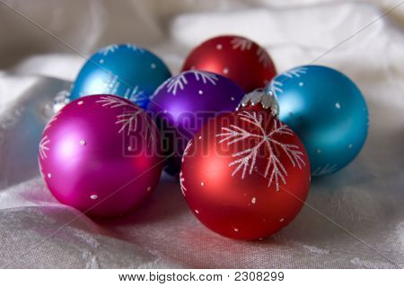 Set Of Colorful Ornaments