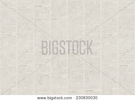 Old Grunge Newspaper Paper Texture Background. Blurred Vintage Newspaper Background. Paper Textured