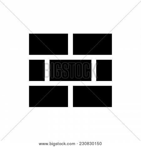 Brick Wall Icon Isolated On White Background. Brick Wall Icon Modern Symbol For Graphic And Web Desi