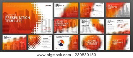 Business Presentation Templates Set. Use For Presentation Background, Brochure Design, Website Slide