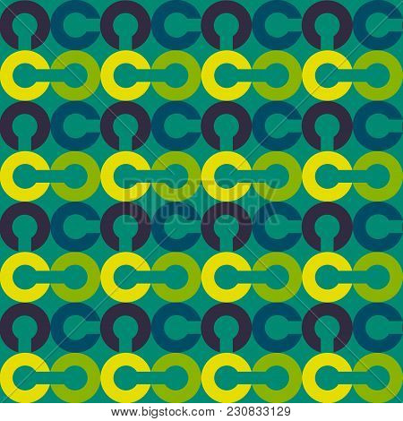 Link Chain Block Seamless Pattern. Suitable For Screen, Print And Other Media.