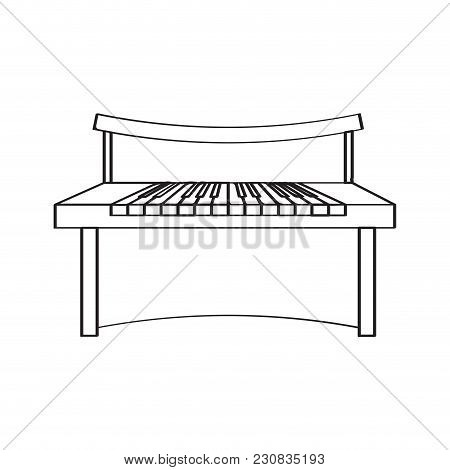 Isolated Piano Icon. Musical Instrument. Vector Illustration Design