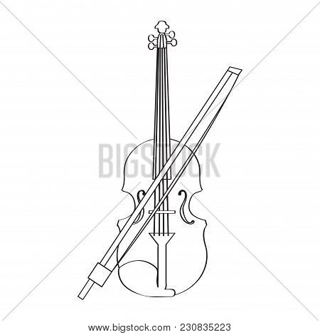 Isolated Violin Icon. Musical Instrument. Vector Illustration Design