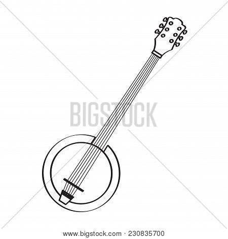 Isolated Banjo Icon. Musical Instrument. Vector Illustration Design