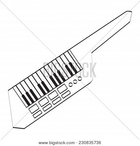 Isolated Keytar Icon. Musical Instrument. Vector Illustration Design