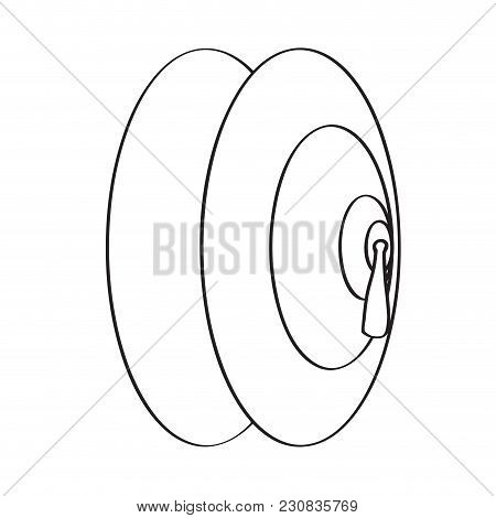 Isolated Cymbal Icon. Musical Instrument. Vector Illustration Design