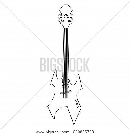 Isolated Electric Guitar Icon. Musical Instrument. Vector Illustration