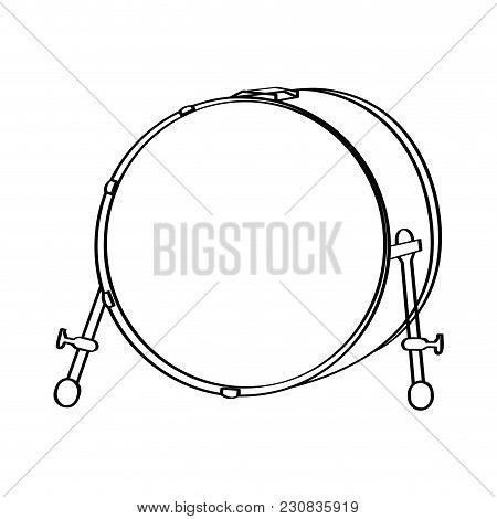 Isolated Drum Icon. Musical Instrument. Vector Illustration Design
