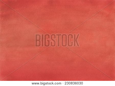 Clean Red Watercolor Background Uniform Mixing Of Cadmium Red, English Red And Ruby