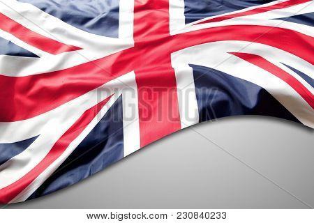 Union Jack flag on grey background