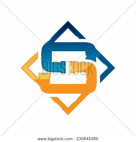 Letter S Plumbing Company Logo Vector Concept. Simple And Stylish Logotype.