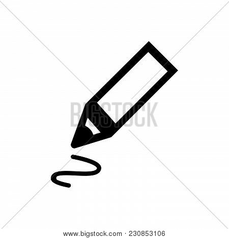 Pen Vector Icon On White Background. Pen Modern Icon For Graphic And Web Design. Pen Icon Sign For L