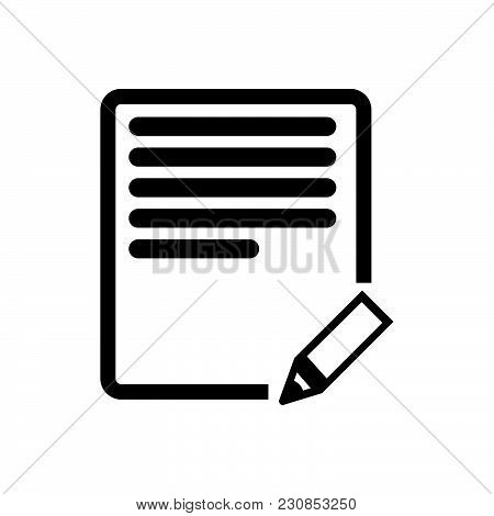 Edit Text Vector Icon On White Background. Edit Text Modern Icon For Graphic And Web Design. Edit Te