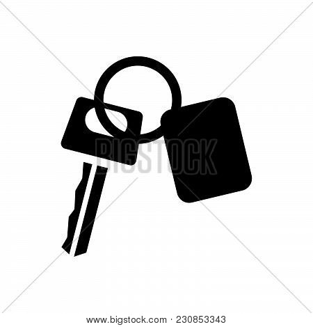 Car Key Vector Icon On White Background. Car Key Modern Icon For Graphic And Web Design. Car Key Ico