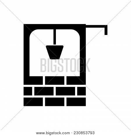 Water Well Vector Icon On White Background. Water Well Modern Icon For Graphic And Web Design. Water