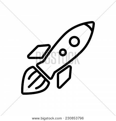 Launched Space Shuttle, Outlined Symbol Of Flying Space Craft, Rocket Image Jpg, Rocket Vector Eps,