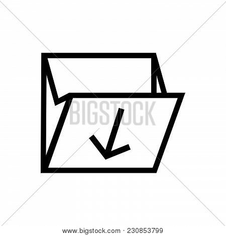 Folder Download Vector Icon On White Background. Folder Download Modern Icon For Graphic And Web Des