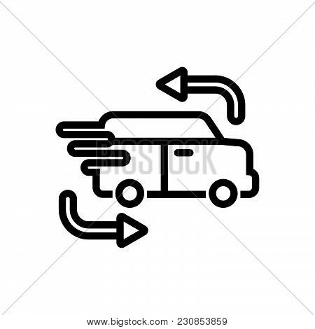 Fast Delivery Car, Car For Cargo Outlined Symbol, Delivery Car Icon, Delivery Car Vector Eps, Delive