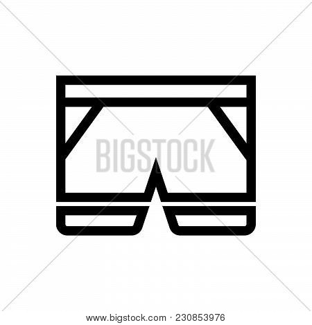 Shorts Vector Icon On White Background. Shorts Modern Icon For Graphic And Web Design. Shorts Icon S