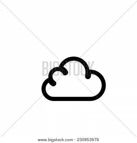 Cloud Vector Icon On White Background. Cloud Modern Icon For Graphic And Web Design. Cloud Icon Sign