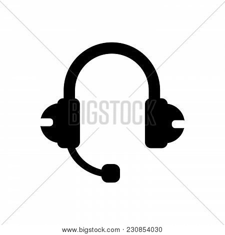 Headphones With Microphone, Headphones Vector Icon, Headpones Image Jpg