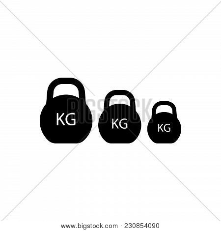 Kilogram Vector Icon On White Background. Kilogram Modern Icon For Graphic And Web Design. Kilogram