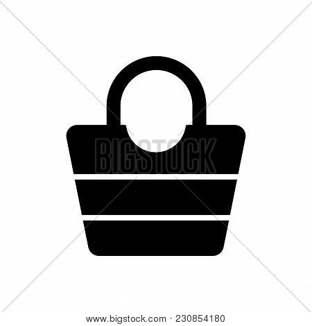 Female Bag Vector Icon On White Background. Female Bag Modern Icon For Graphic And Web Design. Femal