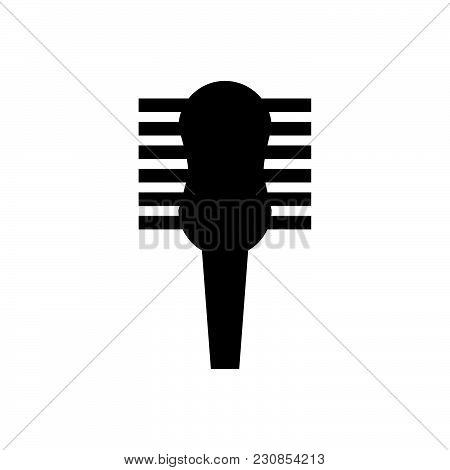 Hair Brush Vector Icon On White Background. Hair Brush Modern Icon For Graphic And Web Design. Hair