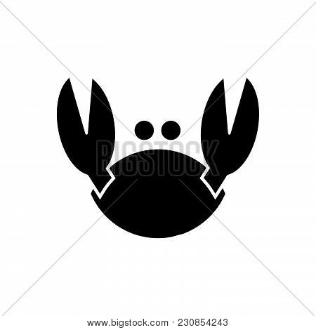 Crab Vector Icon On White Background. Crab Modern Icon For Graphic And Web Design. Crab Icon Sign Fo