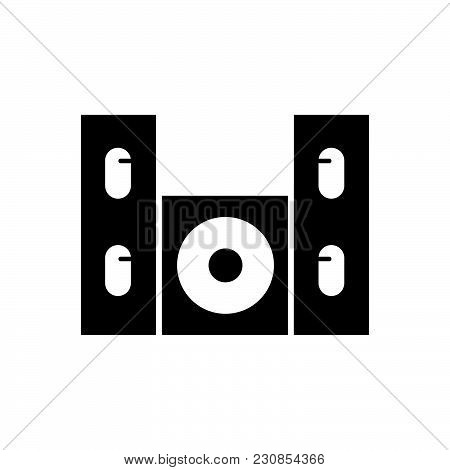 Home Cinema Speaker Vector Icon On White Background. Home Cinema Speaker Modern Icon For Graphic And