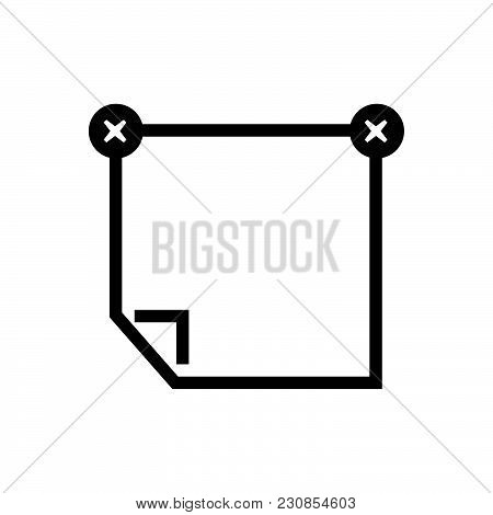 Stick Note Vector Icon On White Background. Stick Note Modern Icon For Graphic And Web Design. Stick