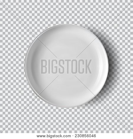 White Plate Isolated On Transparent Background. Kitchen Dishes For Food, Plate And Dish Clean For Ki