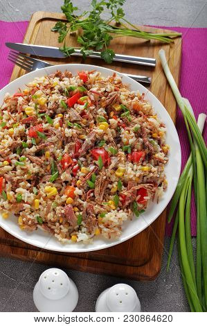 Shredded Juicy Beef Mixed With Rice