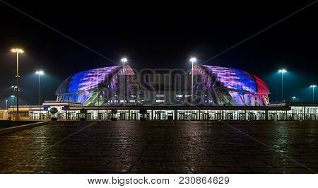 Sochi, Adler, Russia - November 16, 2017: Olympic Park In Adlersky District, Krasnodar Region. Fisht