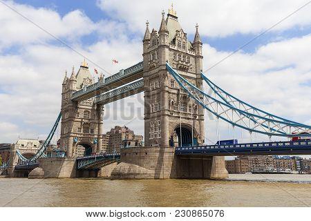London, United Kingdom - June 22, 2017: Tower Bridge On The River Thames.the Bridge Is A Symbol Of T