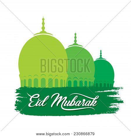 Vector Illustration Of Eid Mubarak Greeting Design, Muslim Traditional Festival
