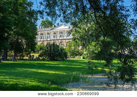 Saint-petersburg, Russia - July 02, 2016: Cameron Gallery In Catherine Park In Tsarskoe Selo Near Sa