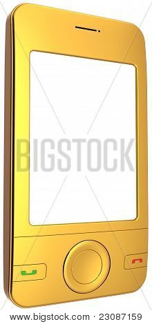 Generic mobile phone smart-phone total golden with blank screen