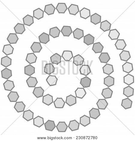 Abstract Futuristic Spiral Maze, Vector & Photo | Bigstock
