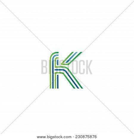 Letter K Logo Initial Vector Mark. K Letter Abstract Vector Logo Design Template. Creative Typograph
