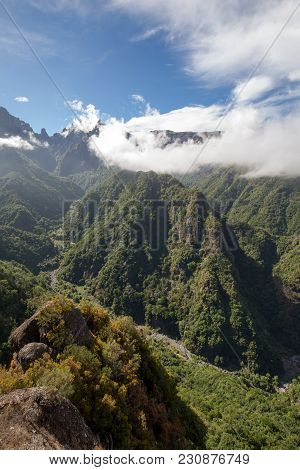 Pico Do Arieiro Seen From Balcoes Viewpoint, Ribeiro Firo, Madeira, Portugal