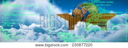 Blue program against tranquil scene of overcast against sky