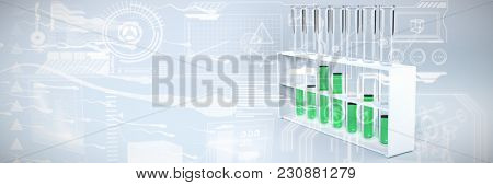 Movement of human sperms against test tube with chemical solution