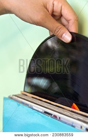 close up image of Vintage Vinyl Record
