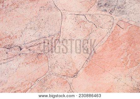 Closeup Flagstone At The Floor Texture Background