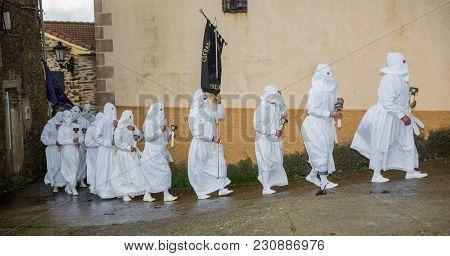 Easter Traditional Procession In Bercianos De Aliste, Zamora
