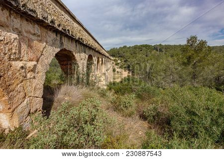 Profile View Of The Ferreres Roman Aqueduct