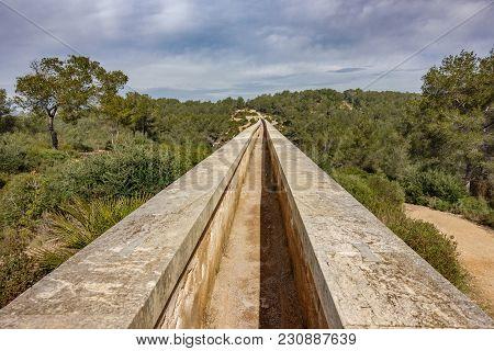 The Ferreres Aqueduct Top View
