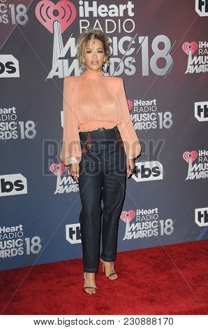 Rita Ora at the 2018 iHeartRadio Music Awards held at the Forum in Inglewood, USA on March 11, 2018.