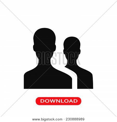 User Group Icon Vector In Modern Flat Style For Web, Graphic And Mobile Design. User Group Icon Vect